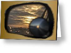 Reflection Of A Sunset Greeting Card