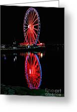 Reflection Of A Wheel Greeting Card