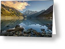 Reflection Of Aoraki Greeting Card