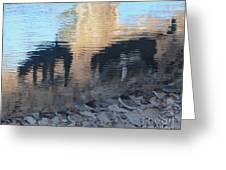 Reflection Of Dogs Greeting Card