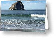 Reflection Of Haystock Rock  Greeting Card