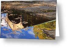 Reflection Of Montgomery Covered Bridge Greeting Card