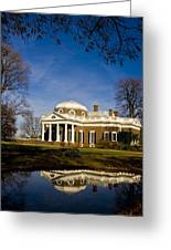 Reflection Of Monticello Greeting Card