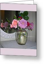 Reflection Of Roses Greeting Card