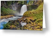 Reflection Of Sahalie Falls Greeting Card