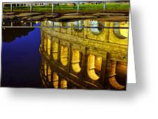 Reflection Of The Colosseum Greeting Card