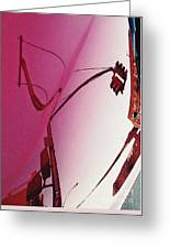 Reflection On A Red Automobile Greeting Card