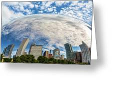 Reflection On The Bean Greeting Card