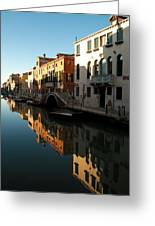 Reflection On The Cannaregio Canal In Venice Greeting Card