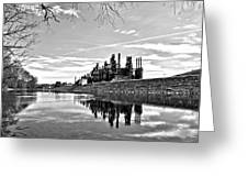 Reflection On The Lehigh Greeting Card by DJ Florek