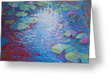 Reflection Pond With Liles Greeting Card