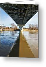 Reflection Shadow In Missouri River Greeting Card