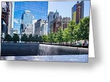 Reflections At 911 Memorial Greeting Card