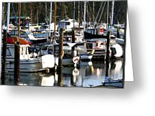 Reflections At Dock II Greeting Card