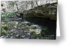 Reflections At The Grotto Greeting Card