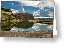 Reflections At The Pond Greeting Card