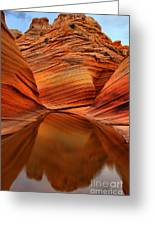Reflections At The Wave Greeting Card