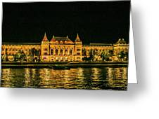 Reflections From Budapest University Greeting Card
