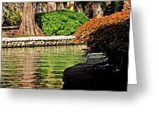 Reflections From The Riverwalk Greeting Card