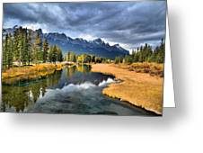 Reflections In Canmore Greeting Card