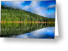 Reflections In Green Greeting Card