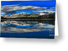 Reflections In Lac Beauvert Greeting Card