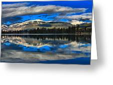 Reflections In Lake Beauvert Greeting Card