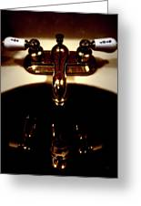 Reflections In Sink Art Greeting Card by Steven Digman