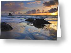 Reflections In The Sand Greeting Card