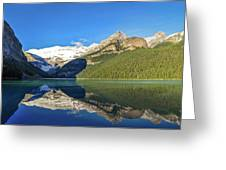 Reflections In The Water At Lake Louise, Canada Greeting Card