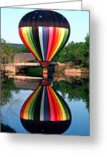 Reflections Of A Balloonist Greeting Card