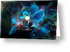 Reflections Of A Flower In The Moonlight Greeting Card