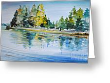 Reflections Of A Stroll Greeting Card