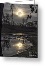 Reflections Of A Super Moon Greeting Card