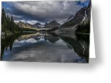 Reflections Of Assiniboine Greeting Card