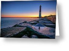 Reflections Of Barnegat Light Greeting Card