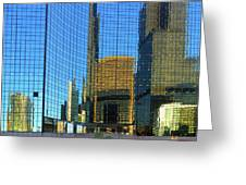 Reflections Of Chicago Greeting Card