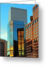 Reflections Of Denver Greeting Card