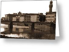 Reflections Of Florence Greeting Card