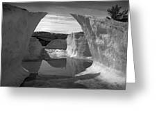 Reflections Of Ice Greeting Card