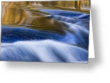 Reflections  Of Linville River Greeting Card by Ken Barrett