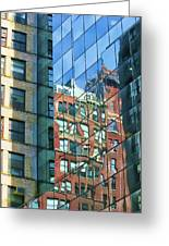 Reflections Of Manhattan Greeting Card