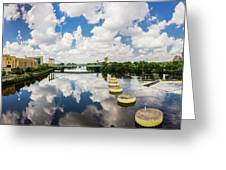Reflections Of Minneapolis Greeting Card by Mike Evangelist