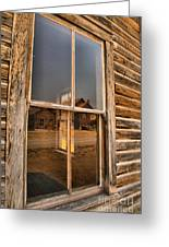 Reflections Of Montana Mining Greeting Card