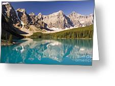 Reflections Of Moraine Lake Greeting Card