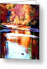 Reflections Of October Greeting Card