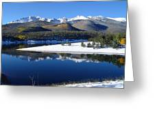 Reflections Of Pikes Peak In Crystal Reservoir Greeting Card