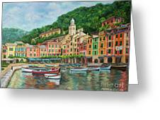 Reflections Of Portofino Greeting Card