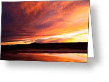 Reflections Of Red Sky Greeting Card