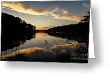 Reflections Of Sailboat Cove Greeting Card